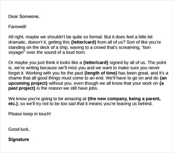 farewell letters - Onwebioinnovate - farewell letter