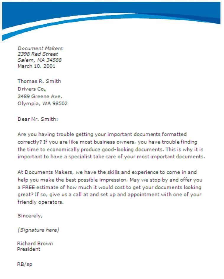 41+ Sample Sales Letters - Templates Word PDF