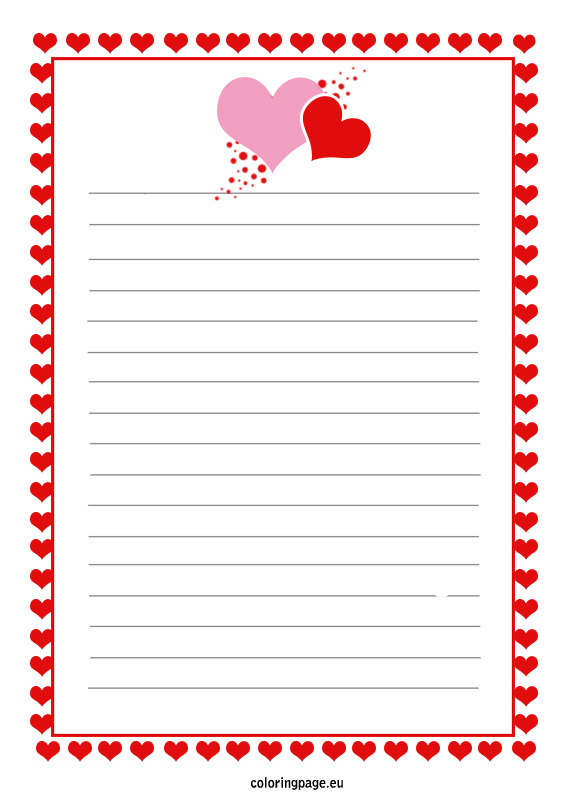template for love letter - Towerssconstruction