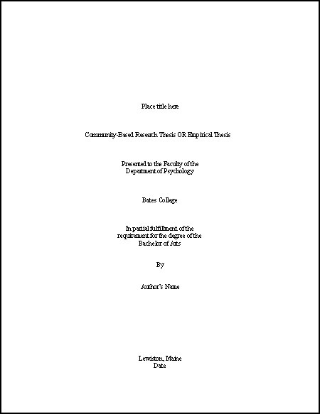 sample of a title page - Goalgoodwinmetals - sample cover page