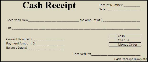 Cash Receipt. 4 Professional Cash Receipt Templates For Excel,Cash
