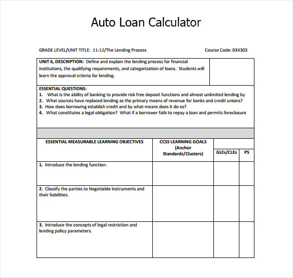 loan calculator template - Basilosaur - loan calculator template