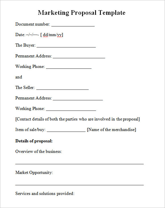 proposal-template-word - proposal template in word