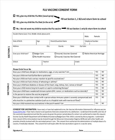 Vaccine Consent Form  TemplatexampleUnicloudPl