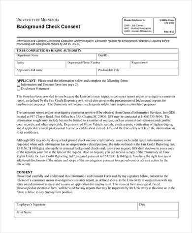 printable-template-for-Background-Check-Consent-Form - background check consent forms