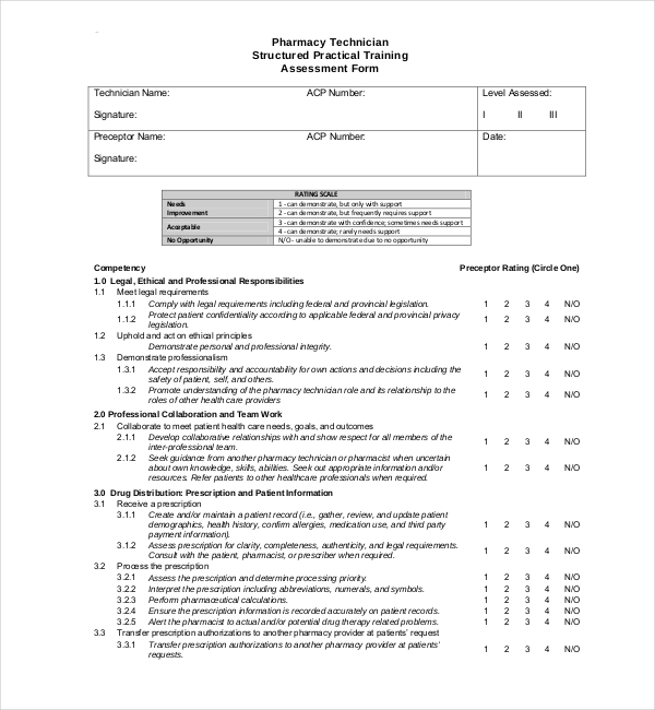 7 Sample Training Assessments Samples and Templates