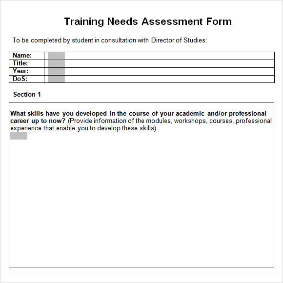 Training Needs Analysis Template Printable-Doc-Training-Needs - training assessment form