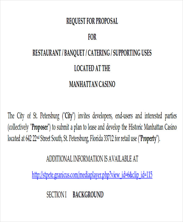 Free-Catering-Proposal-LetterCatering Proposal Template Services