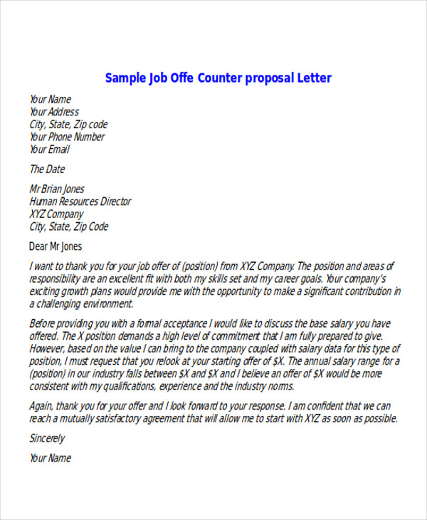 job counter offer letter 3slufsluidsprekers