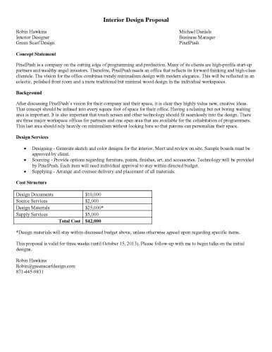 printable sample \u2013 Interior-Design-Proposal