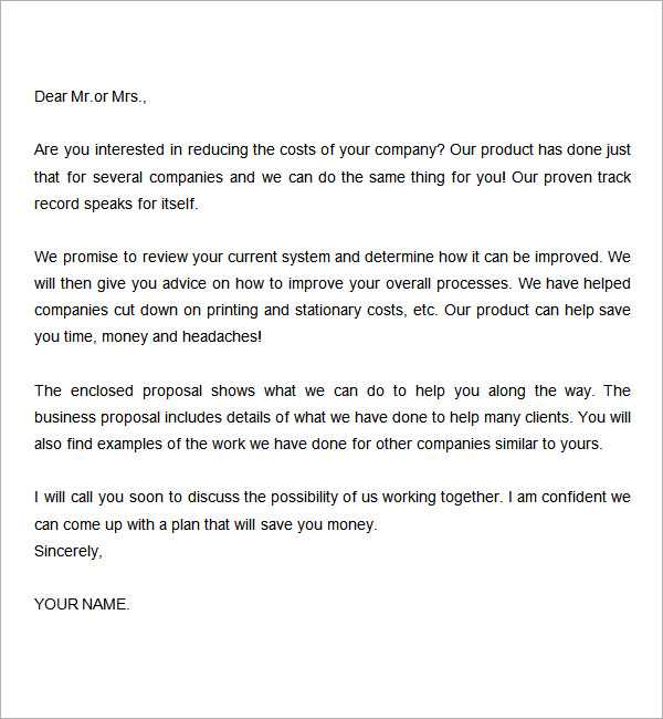 proposal-letter-template-free-doc-template - business proposal document template
