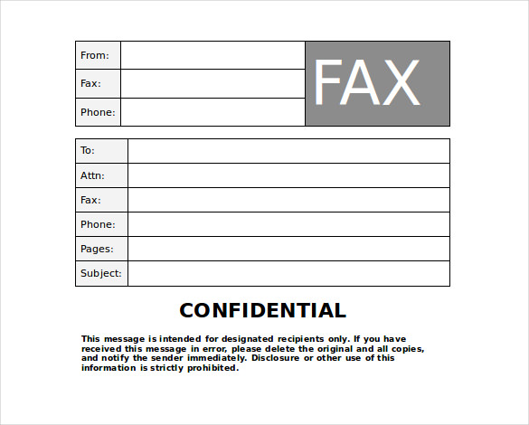 Editable Fax Templates Samples and Templates - fax letter template