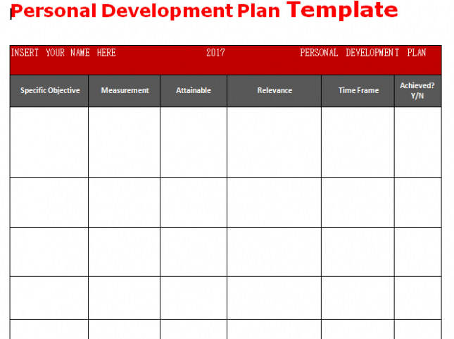 Download Get Personal Development Plan Template Word \u2013 Microsoft