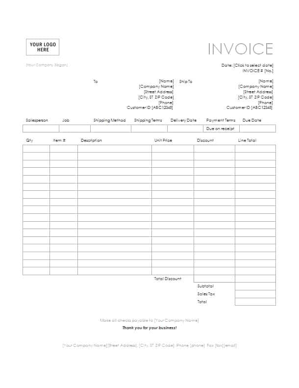 tax invoice template download - invoice template microsoft