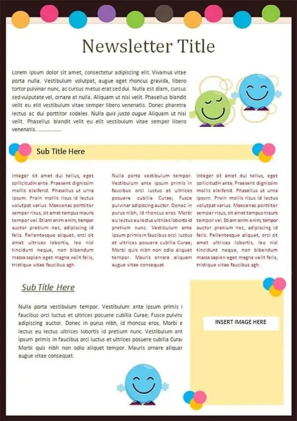 Kindergarten Newsletter Templates - Free Formats Excel Word - news letter formats