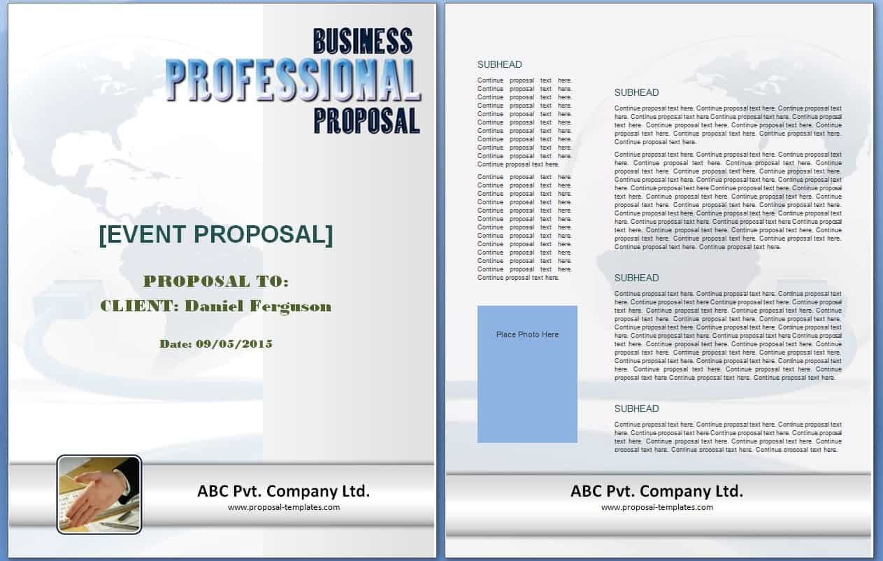 Doc600618 Sample Event Planning Proposal Sample Event – Event Proposal Template Free