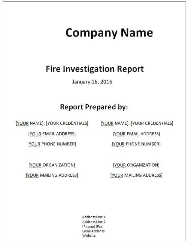 report templates for word - zrom