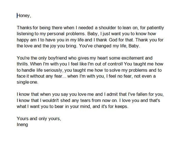 Letters To Boyfriend gplusnick
