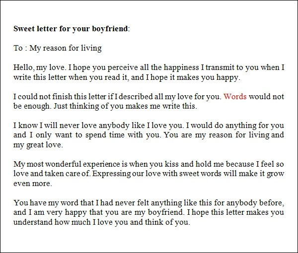 Letters To Your Boyfriend gplusnick