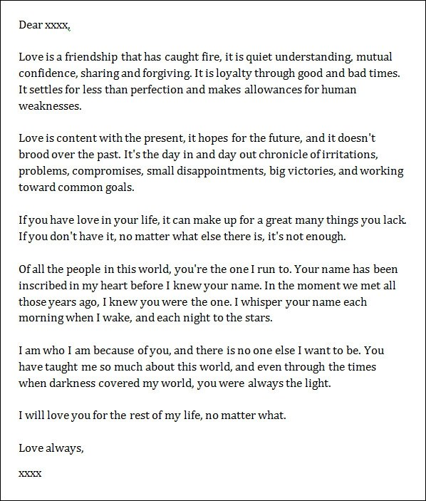 Love Letters to Boyfriend \u2013 SampleLoveLetternet