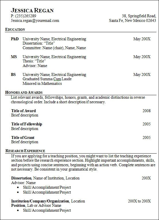 architecture resume template - architect resume template