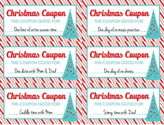 christmas coupon templates printable - Free Christmas Voucher Template