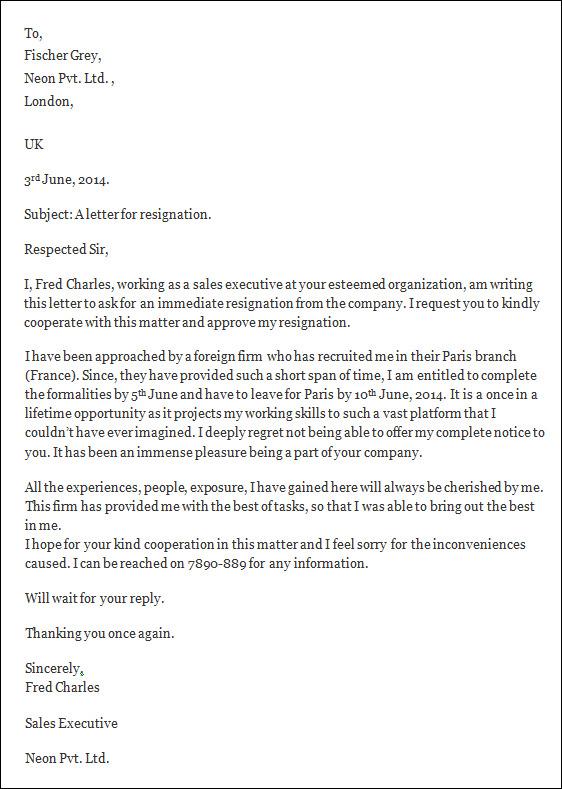 teacher resignation letter template - resignation letter template word