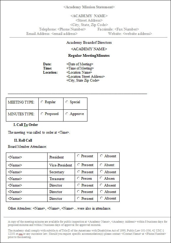 meeting minutes template word - minutes of meeting word template
