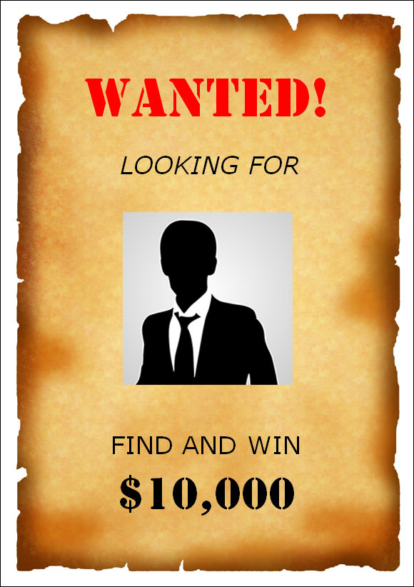 Wanted Poster Template Photoshop – Wanted Poster Format