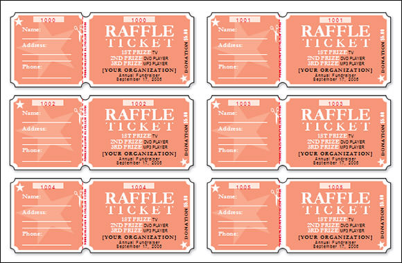 raffle sheet template free
