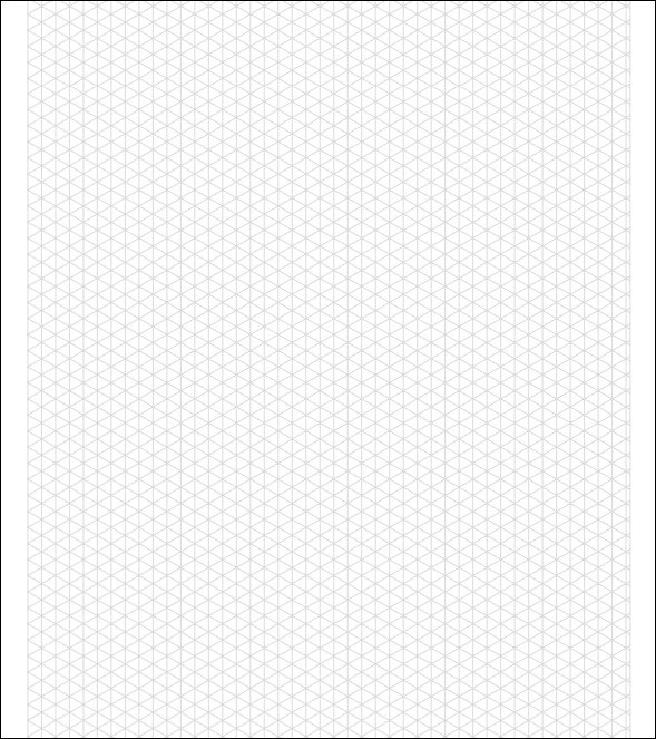 isometric dot paper template