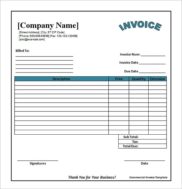 Blank Invoice Word Template | Sample Customer Service Resume