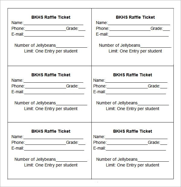 drawing raffle ticket templates