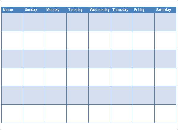 blank reward chart template
