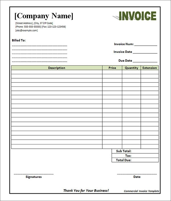 blank invoice pdf | resume and cover letter examples and templates, Invoice examples