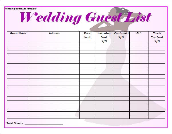 blank checklist template word - wedding planning excel spreadsheet