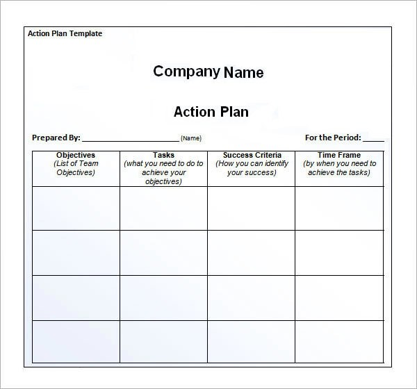 free action plan template word - action plan work sheet