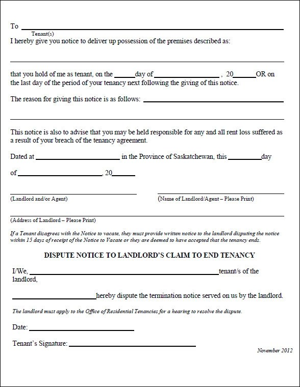 sample eviction notice template - eviction notices template