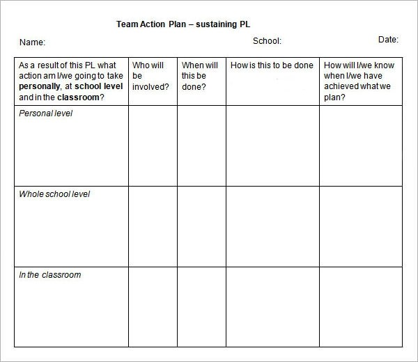 action plan template - action plan in pdf
