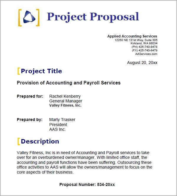 project proposal form template