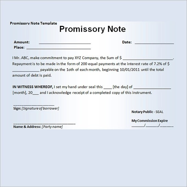 PROMISSORY NOTE TEMPLATES - World maps and letter - promissory note simple