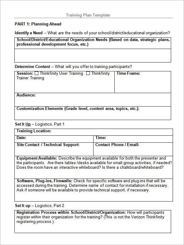 sample training proposal template