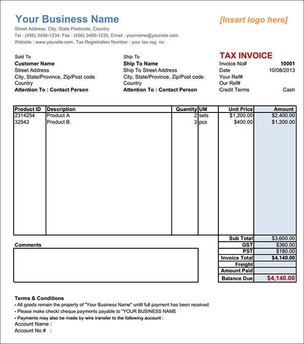 proforma invoice sample download - Akbagreenw - Proforma Invoice Template Pdf