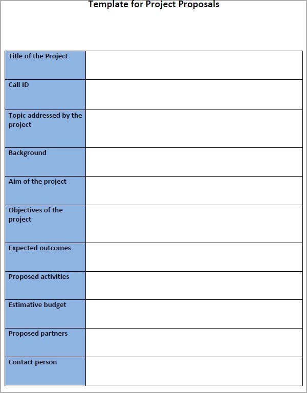 business project proposal template - project proposals