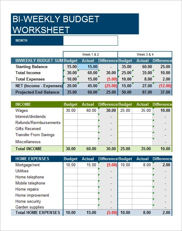 personal budget tracker - Josemulinohouse - personal budget worksheets