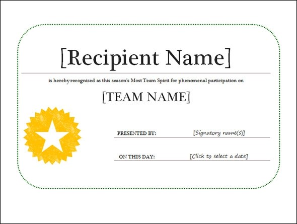 general award certificate template - certification templates