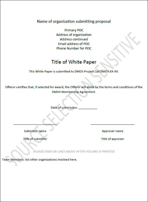 white paper format templates - White Paper Pdf