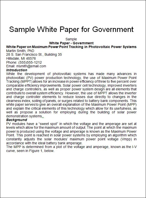 white paper microsoft word templates - white paper template