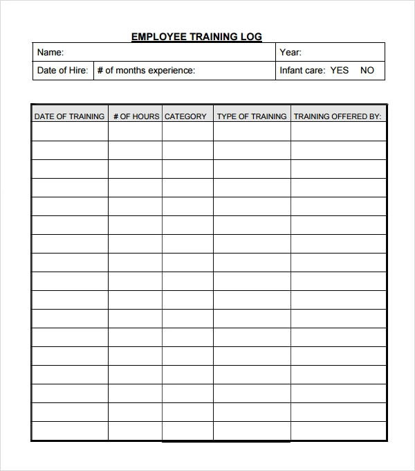 employee training log template - monthly workout plan template