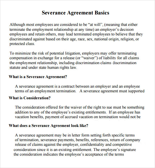 Employment Waiver Release Agreement Choice Image Agreement Letter